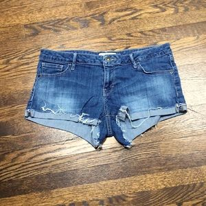 Guess Lightly Distressed Denim Shorts